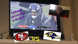 WATCHING NFL FOOTBALL **LAMAR JACKSON A BEAST!**