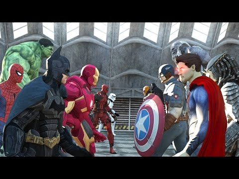 Batman vs Superman vs Captain America vs Ironman vs Hulk vs Deadpool vs Spiderman vs Goku - Ruslar.Biz