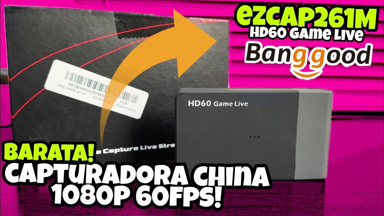 CAPTURADORA BARATA CHINA EZCAP261M 1080P 60FPS / VALE LA PENA? BANGGOOD!