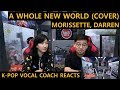 "ENGsubK-pop Vocal Coach Reacts To Morissette, Darren - ""A Whole New World Aladdin's Theme"""