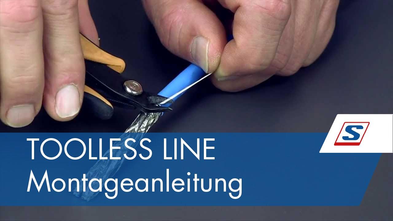 toolless line cat.6a rj45 buchse | montageanleitungen von schrack