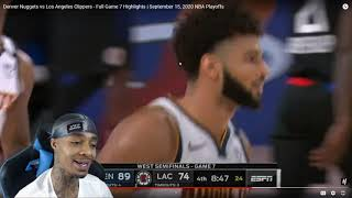 FlightReacts  Nuggets vs Clippers - Full Game 7 Highlights | September 15, 2020 NBA Playoffs!