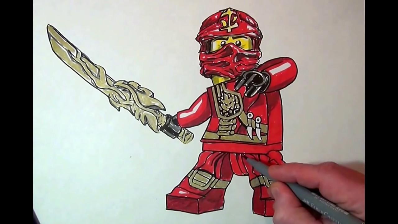 How To Draw Kai Ninjago Lego Youtube