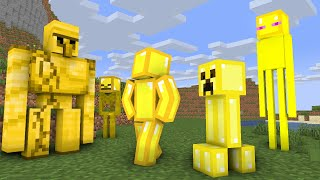 Monster School : Gold World - minecraft animation
