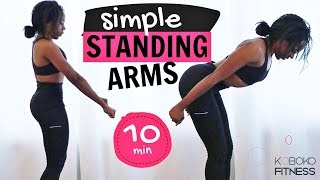 STANDING ARMS WORKOUT - NO JUMPING | Home Workout - Koboko Fitness