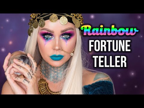 Rainbow Fortune Teller Makeup With KLXUD | KristenLeanneStyle