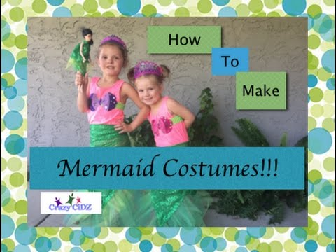 How To Make A Nosew Mermaid Costume For Kids YouTube Delectable Mermaid Costume Pattern