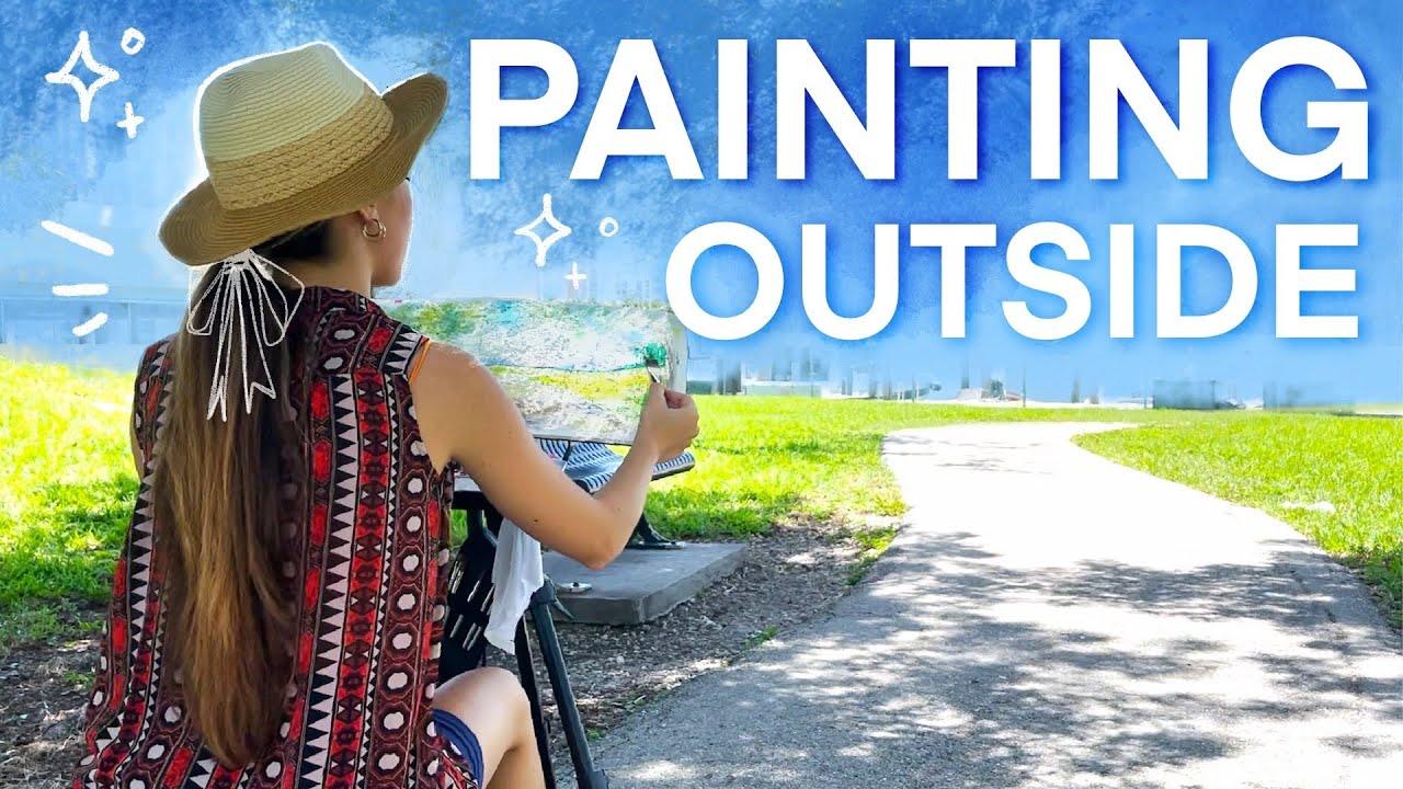 Sketchbook Painting OUTSIDE | Urban Sketching Watercolor + TIPS!