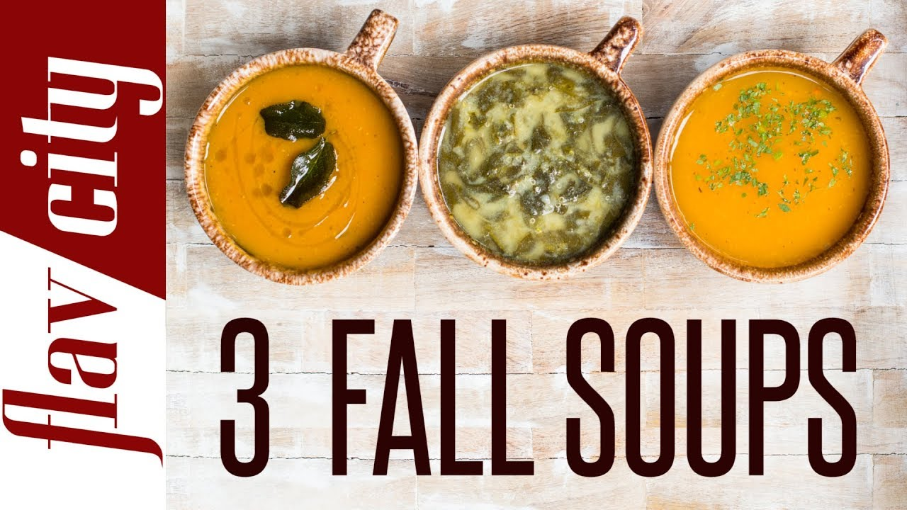 3 Healthy Soup Recipes For Fall Vegetarian Gluten Free Youtube