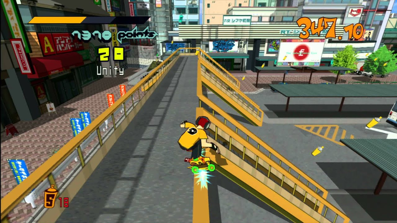 Image result for jet set radio gameplay