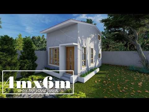 4mx6m (24sq.m) Simple House Design with 1 Loft Type Bedroom
