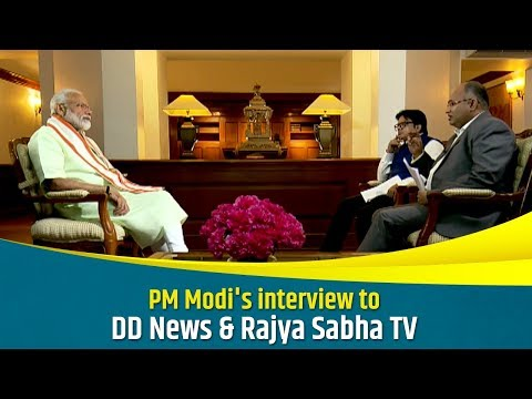 PM Modi's Joint interview with DD News & Rajya Sabha TV