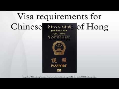 Visa requirements for Chinese citizens of Hong Kong
