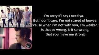 One Direction   Strong Lyrics