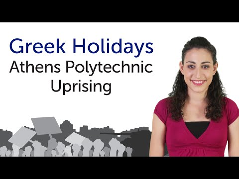 Learn Greek Holidays - Athens Polytechnic Uprising - Επέτειος του Πολυτεχνείου