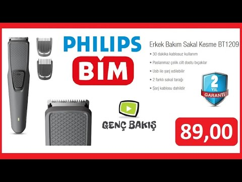 Bim 89 Tl Philips Erkek Bakim Sakal Kesme Bt1209 Kutu Acilisi