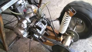 Homemade Buggy First Start + 1st Gear