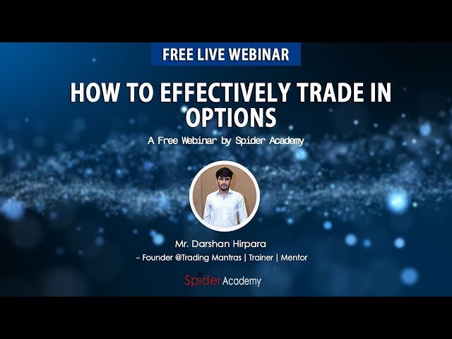 How To Effectively Trade In Options | 90% Accuracy Strategy | Darshan Hirpara Webinar