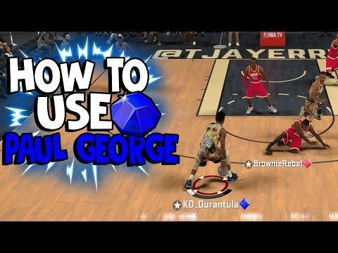 HOW TO USE SAPPHIRE PAUL GEORGE! [NBA 2K18 GAMEPLAY]