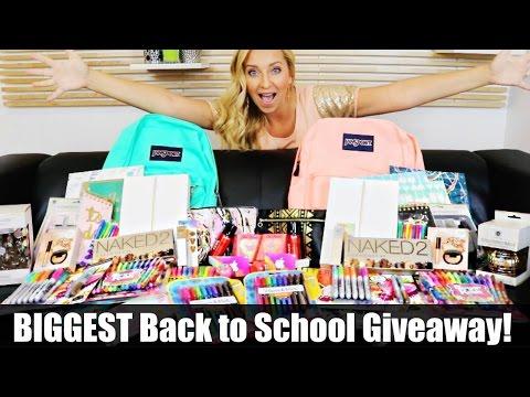 BIGGEST Back to School Giveaway Ever! 2016 (iPad Air 2, Jansport, School Supplies, Makeup & More!)