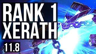 XERATH vs LISSANDRA (MID) | Rank 1 Xerath, 7/0/10, Godlike, Rank 15 | JP Challenger | v11.8