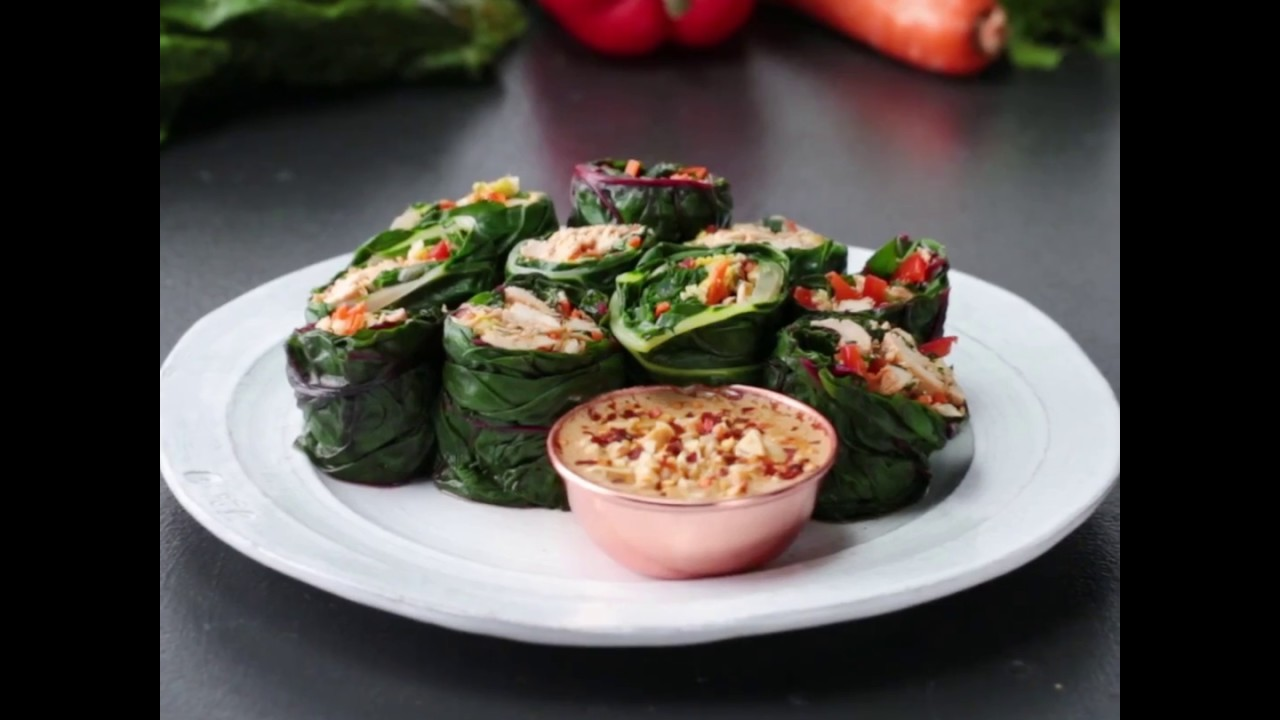 Asian Collard Green Wrap | healthy dinner recipes for weight loss by worldwide cooking recipe