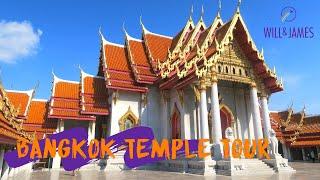BANGKOK TEMPLE TOUR | Travel Vlog | Will and James