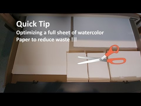 transparent watercolor quick tip optimizing a full sheet of