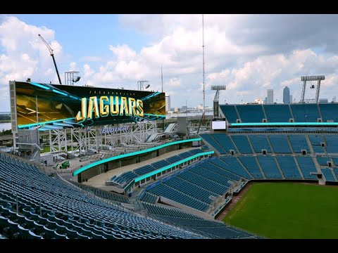 Jacksonville Jaguars New Scoreboards are World's largest