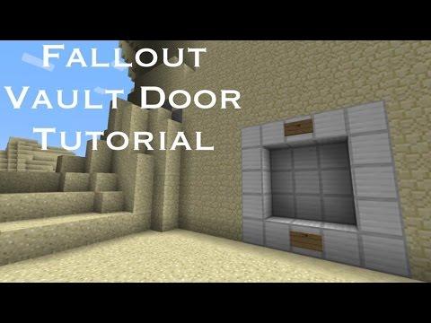 Fallout Vault Door Tutorial In Minecraft (Easy)
