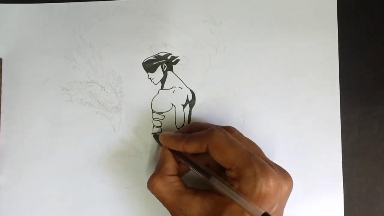 Drawing Roronoa Zoro From One Piece Series Tattoo Design Art Youtube