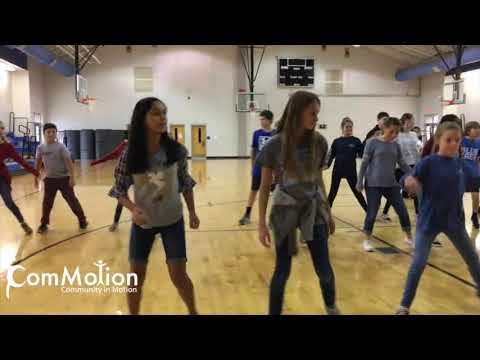 Dance class at Polk County Middle School