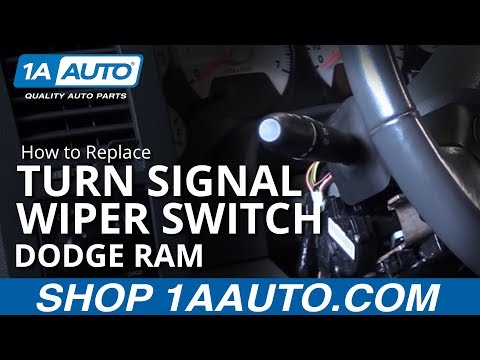 How to Replace Turn Signal Wiper Switch 02-08 Dodge Ram