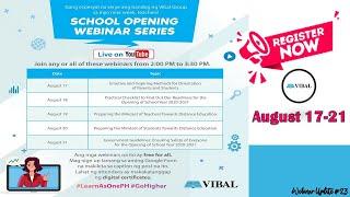 VIBAL WEBINAR AUGUST 17-21