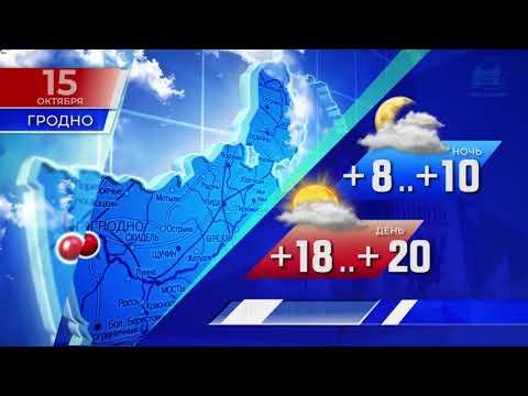 Прогноз погоды по Беларуси на 15 октября 2019 года