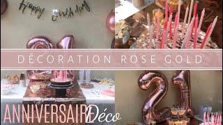 Déco Anniversaire Rose Gold