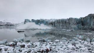 Island: Touristen fliehen nach Gletscher-Abbruch