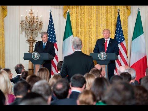 Conferenza stampa di Gentiloni e Trump alla Casa Bianca (20/04/2017)