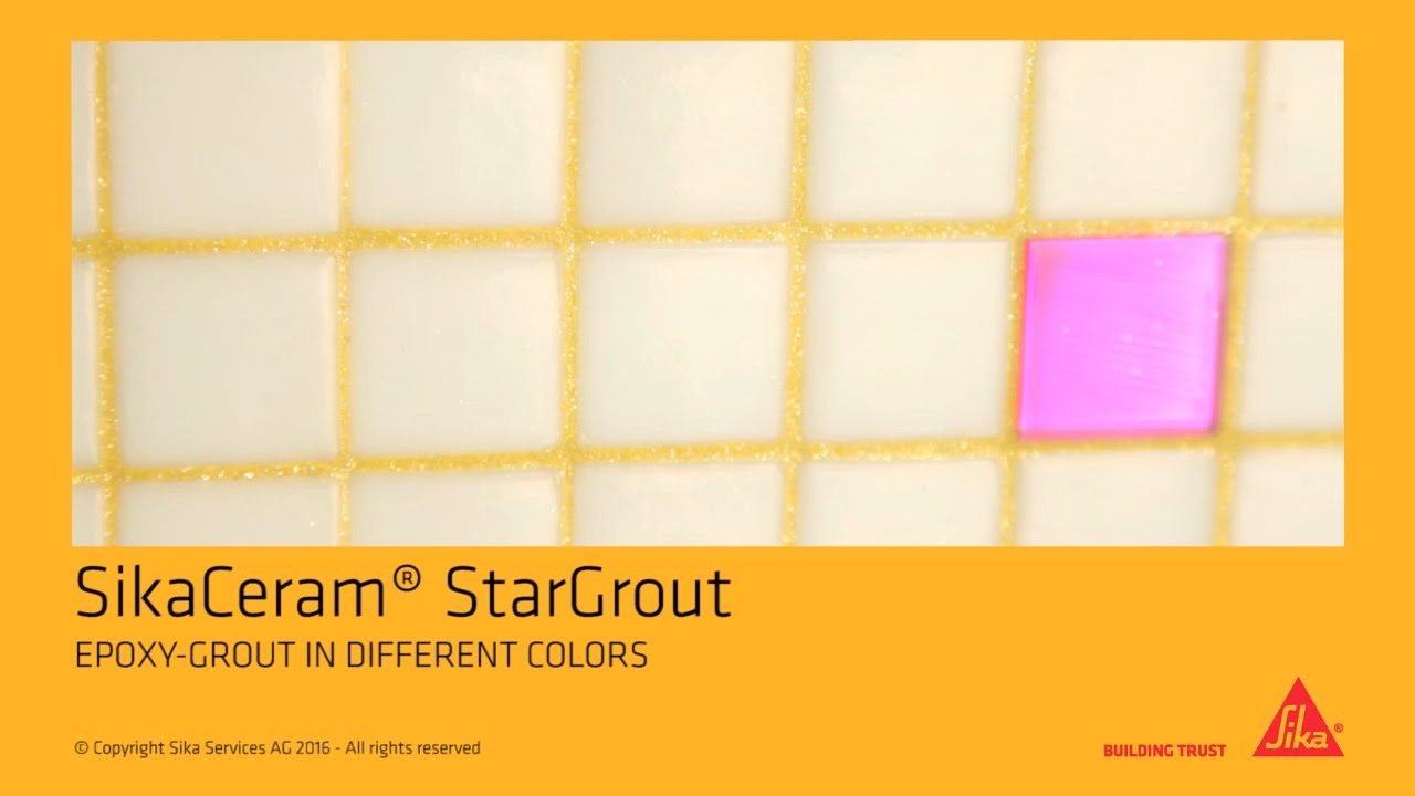 sikaceram 174 stargrout epoxy grout in different colors