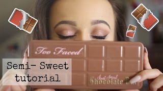 MAKEUP TUTORIAL: SEMI-SWEET CHOCOLATE BAR PALETTE  (I sing cupcakke songs u wanna watch this)