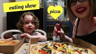 MANGIA CON NOI, PIZZA!! (muckbang eating show )
