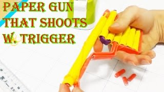 How to make a paper gun that shoots - Easy to make at home