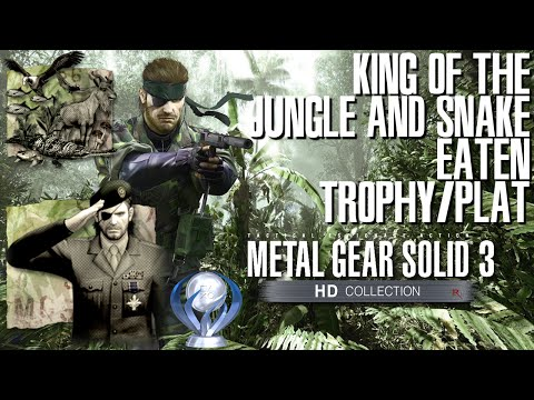 Metal Gear Solid 3: Snake Eater - King of the Jungle & Platinum Trophy/Achievement