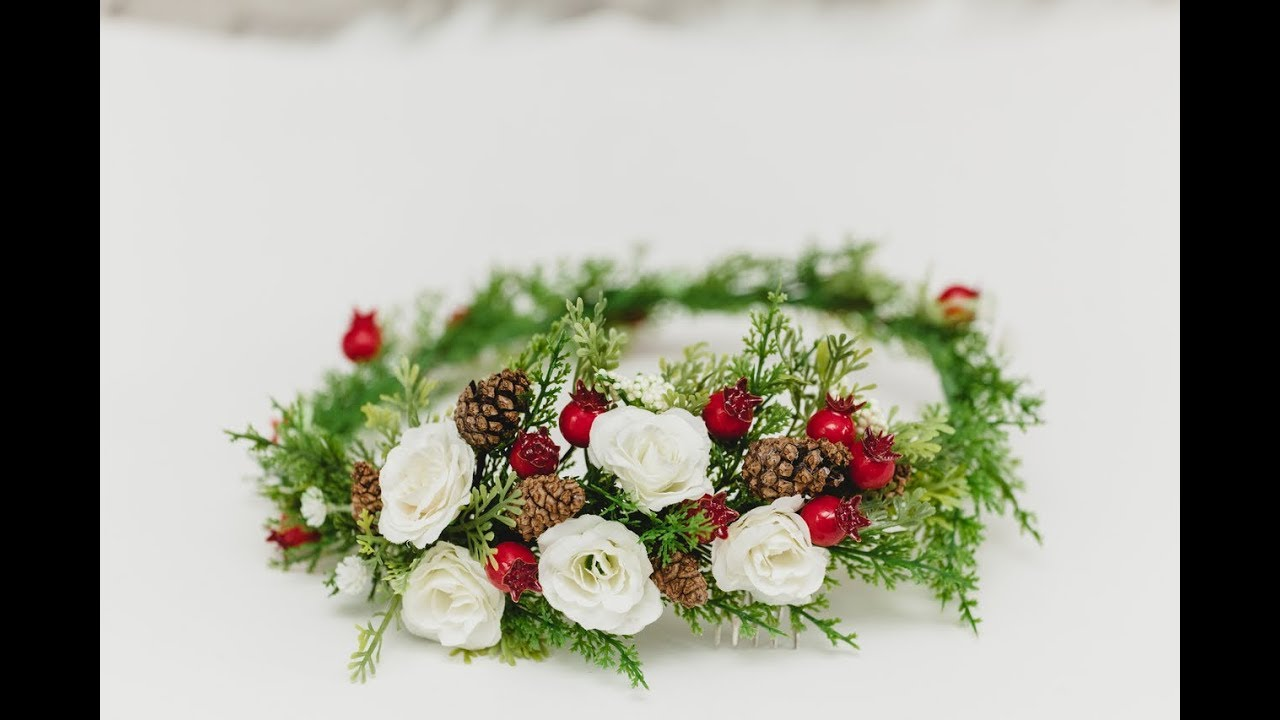 How to make bridal hairstyle flowers crown flowers comb christmas how to make bridal hairstyle flowers crown flowers comb christmas flowers easy diy izmirmasajfo