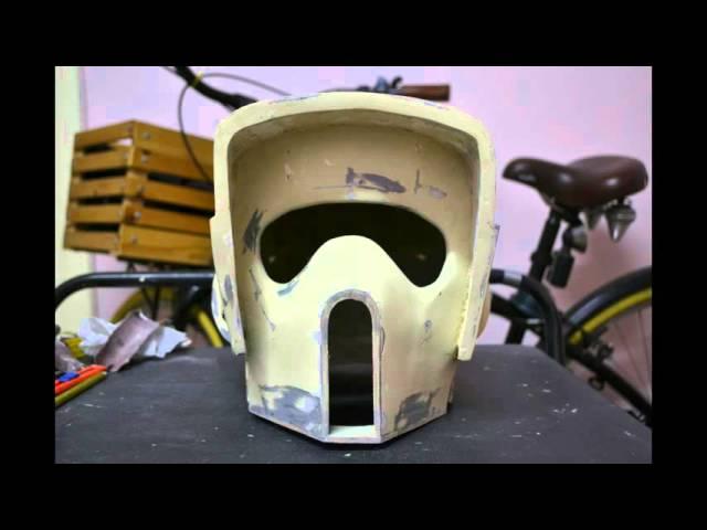 Biker Scout Trooper helmet pepakura