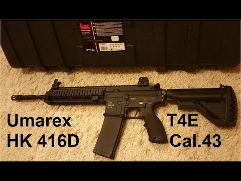 Umarex HK 416D T4E RAM Cal.43 Review / Schusstest deutsch /german