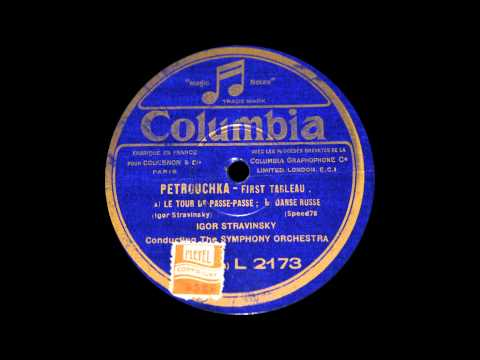 Stravinsky conducts Petrouchka (1928) [Spatial Enhancement added]