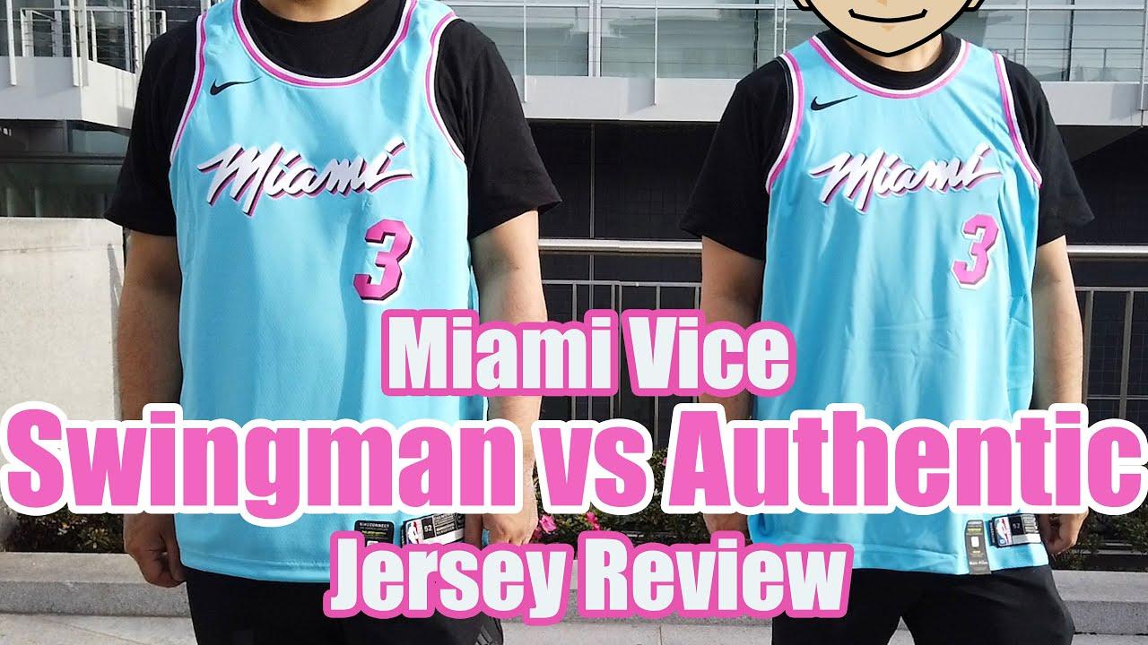 Swingman Vs Authentic Nike Miami Heat Miami Vice City Edition 2020 Youtube
