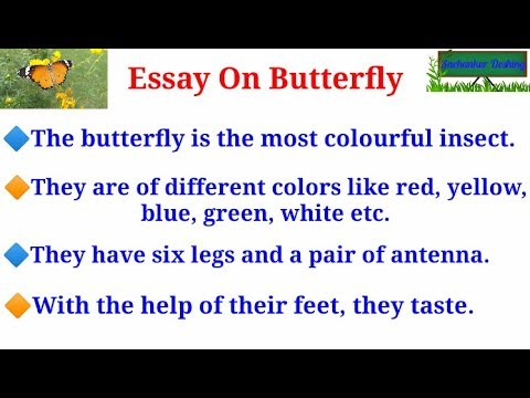 essay on butterfly in bengali