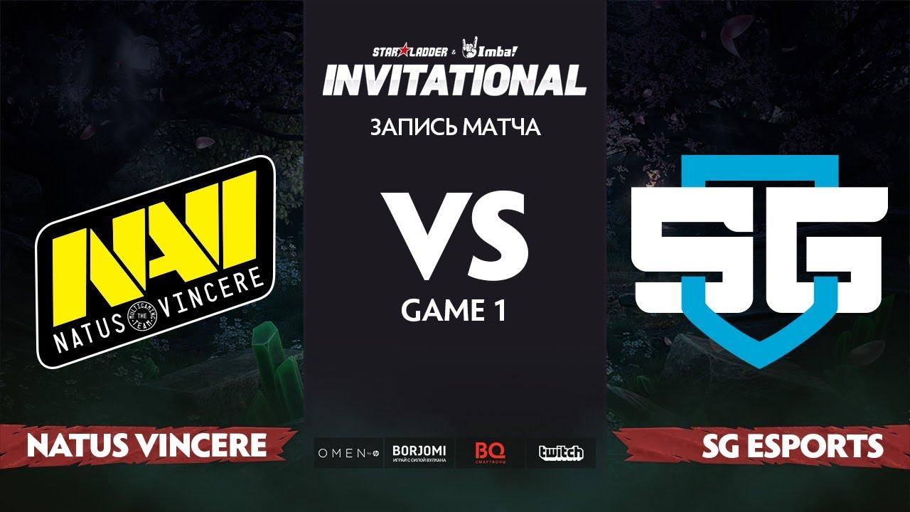 Natus Vincere против SG esports, Первая карта, Группа Б, StarLadder Imbatv Invitational S5 LAN-Final
